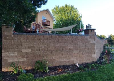 Retaining wall for custom landscaping