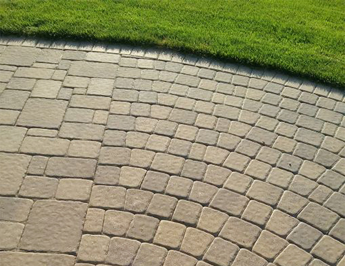 Radial patio pavers.