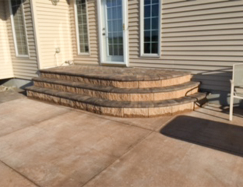 Patio Pavers that made stairs during the day.