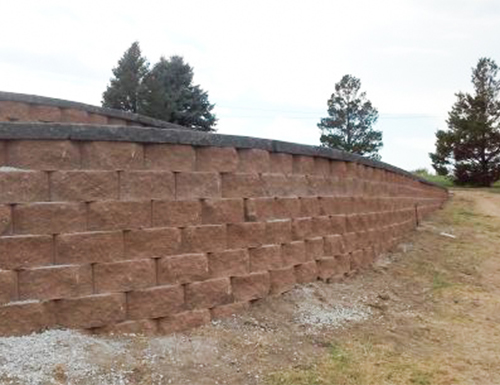 Multi-level retaining wall with brick