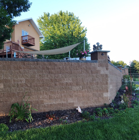 A beautiful retainig wall installed on a residential property.